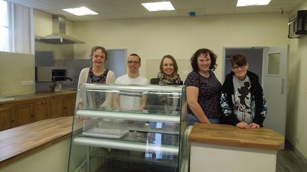 Leaners of able2achieve from Yeovil have come down to help set up the cafe ahead of its open day in