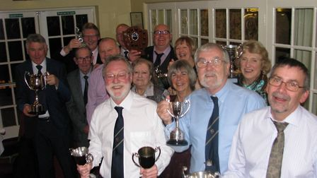 The Ottery St Mary bowlers who were presented with trophies at the recent awards evening