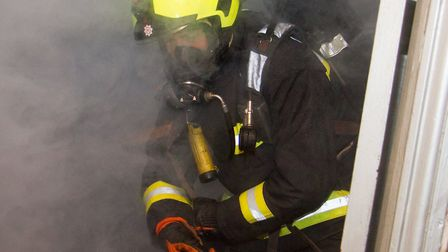 Appliances from Sidmouth,Ottery,Colyton,Honiton and Exmouth attended a fire exercise at Carins night