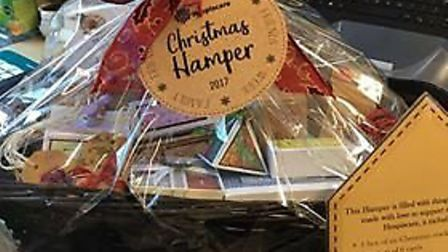 One of the Christmas hampers from last year.