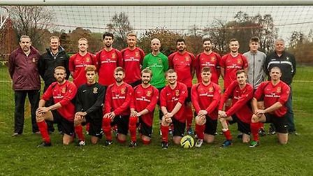 Tipton St John who are involved in derby action on Saturday with their home game against neighbours
