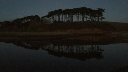 I went for an evening walk out to Otter Head at last light and saw these wonderful reflections from