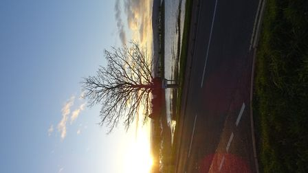 This was taken around 15:50 GMT on Thursday 30th November 2017, from the road, outside the M&S Food
