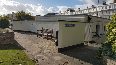 The toilets at Sidmouth's Three Cornered Plot