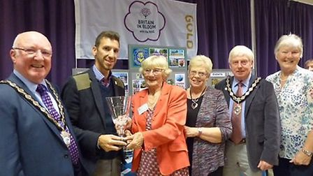 Left to right: Cllr Brian Cole, Exmouth Mayor; Nick Christo from East Devon District Council; Distri