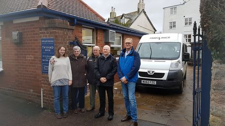Staff and volunteers at Sidmouth Voluntary Services. Taken in December 2017.