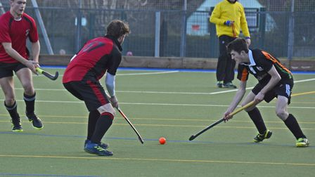 Action from the early January friendly between SOHC 1st XI and Bridgwater