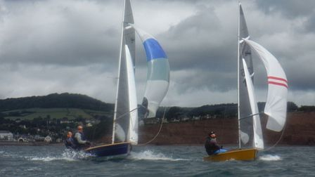 Action from the Sidmouth Sailing Club Scorpion Open Challenge
