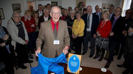 Handell Bennett at the official opening of The SVA Headquarters in Sidmouth. Ref shs 02 18TI 4348. P