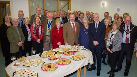 Sheelagh Michelmore retires from Sidmouth Hospital comforts fund after 63 years. Ref shs 02-18TI 602