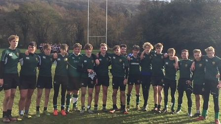 Sidmouth Under-16s before their Fisherman's Plate success over Exmouth