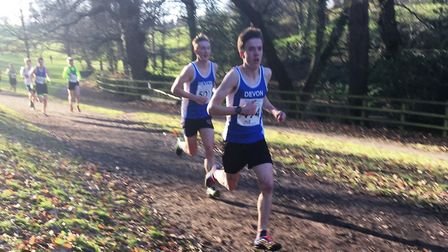 Toby Garrick in action for Devon at the South West cross country championships