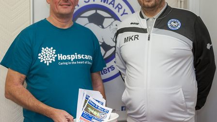 Ottery Football Club has teamed up to support Hospiscare by selling programmes and donating the proc