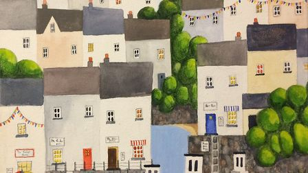 Entries to the South West Art charity exhibition. Linda Bartlett (People's Choice Award)