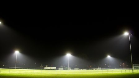 Sidmouth football club's flood lights. Ref shsp 51 17TI 5324. Picture: Terry Ife