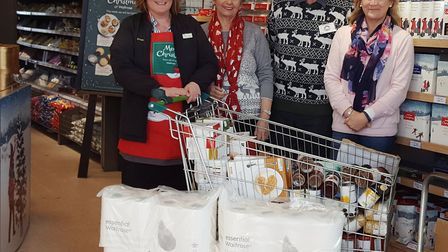 The isolation scheme at Waitrose gave a boost to the Sid Valley Food Bank