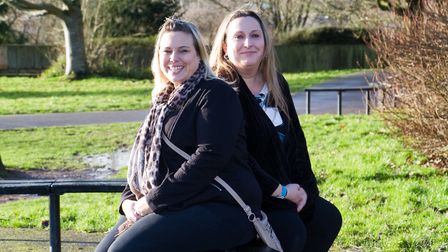 Katie Carpenter and Louise Weddell are launching a fundraiser. Ref sho 03 18TI 6408. Picture: Terry