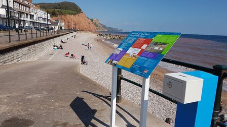 The collection box installed on Sidmouth seafront.