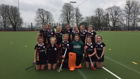 The Sidmouth and Ottery Hockey Club ladies second XI who richly deserved the point they returned wit