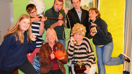 The Branscombe Players in one of their recent shows, Murder at Branoc Hall. From left to right, the