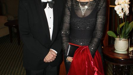 Ray and Susan Davis at the Rotary Club of Sidmouth's 80th president's night dinner.