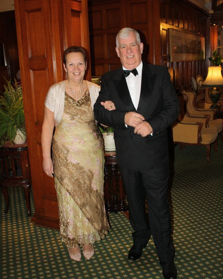 Barbara and Keith Walton at the Rotary Club of Sidmouth's 80th president's night dinner.