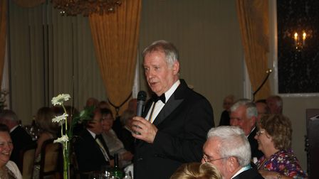 President Stephen Gunnell hosts the Rotary Club of Sidmouth's 80th president's night dinner.
