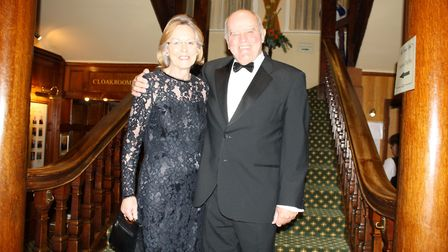 Margaret and John Summerside at the Rotary Club of Sidmouth's 80th president's night dinner.