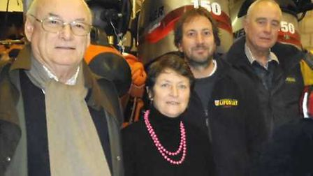 Tributes have been paid to former company secretary Philip Churchill (left), who is pictured with Ki