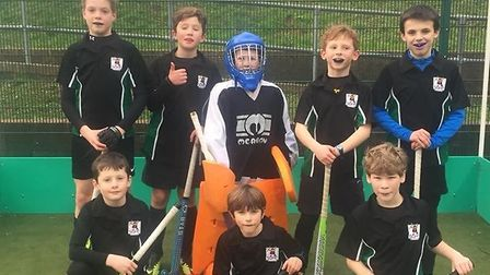 The Sidmouth and Ottery Hockey Club Under-12 team that did so well in the tournament at Torquay.