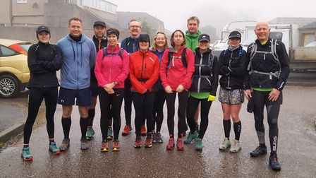 Sidmouth Running Club members at the Blackdown Beast