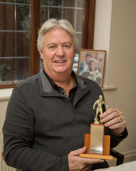 Steve Williams with his player of the year award from Southampton. Ref edr 03-18TI 4398. Picture: Te