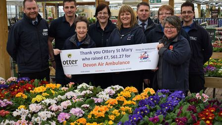 Tracy Owen DAAT (centre) with Otter Garden Centres fundraisers.jpg