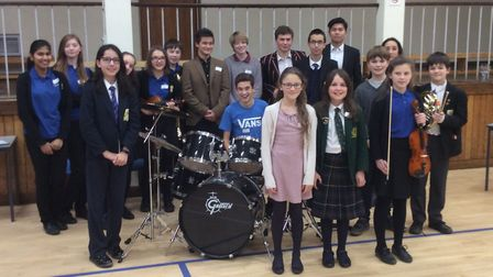 Participants at this year's Music District Semi Finals, held at The King's School.