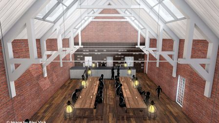 Architect Alex Vick has created these images of how the revamped Drill Hall could look