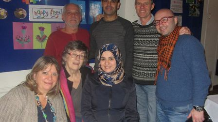 Members of Ottery Refugee Response group attended Sidmouth Cook for Syria event. From l-r it shows