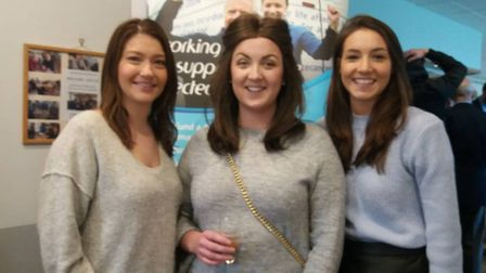 Stacey Thomson (centre) at the fundraising event on Saturday.