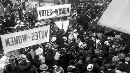 Suffragettes gathering to protest in London in 1910. It would be another eight years of the struggle