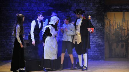 Youngsters from Sidmouth Youth Theatre in their final dress rehearsal for their sell out show Oliver