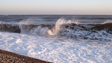 Another winter shot taken after the wind had whipped up the waves. Picture: Barbara Mellor