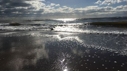Waves lapping on the shore at Exmouth beach. Picture: Sue Babb