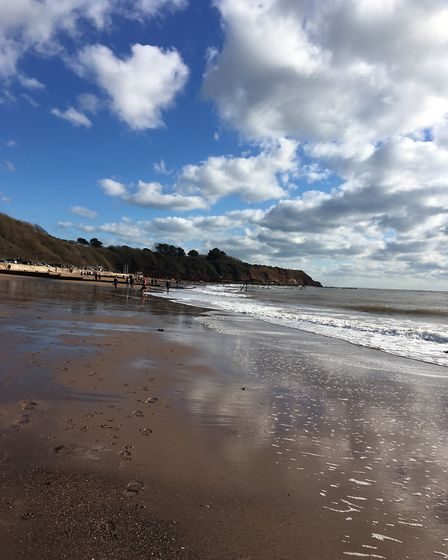 A beautiful Sunday in February at Exmouth beach. Picture: Sue Babb
