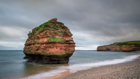 A December view of Ladram Rock, one of the stacks at Ladram Bay. Picture: Paul Newman