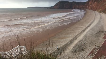 Looking down on the beach at Jacob's Ladder in Sidmouth. Picture: Fay Wilson-Rudd