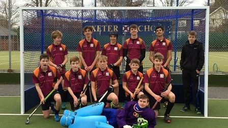 The Sidmouth and Ottery Hockey Cllub Under-16 boys team
