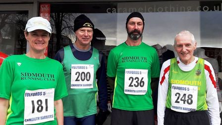 The Sidmouth Four who took part in the Fulfords Five race at Exmouth
