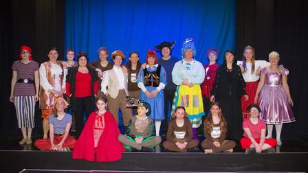 Ottery Community Theatre's production of Jack and the half baked beanstalk. Ref sho 04 18TI 6789. Pi
