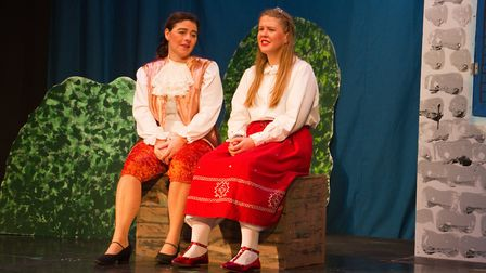 Ottery Community Theatre's production of Jack and the half baked beanstalk. Ref sho 04 18TI 6843. Pi