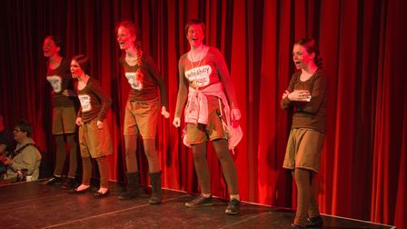 Ottery Community Theatre's production of Jack and the half baked beanstalk. Ref sho 04 18TI 6839. Pi