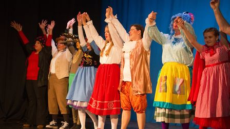 Ottery Community Theatre's production of Jack and the half baked beanstalk. Ref sho 04 18TI 6834. Pi